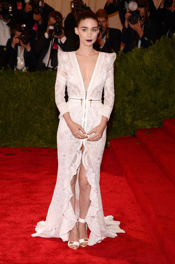 met gala, ball, red carpet, celebrities, evening wear, rooney mara, givenchy