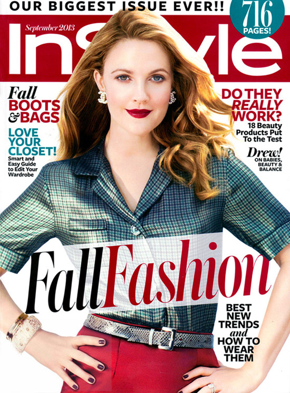 september issue, fashion magazines, fashion photography, drew barrymore