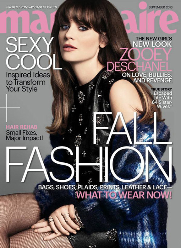 september issue, fashion magazines, fashion photography, zooey deschanel