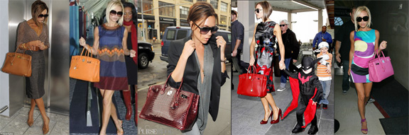 Victoria Beckham, celebrity fashion, celebrity designers, Hermes bags, birkin bags, fashion quote, idiot celebrities