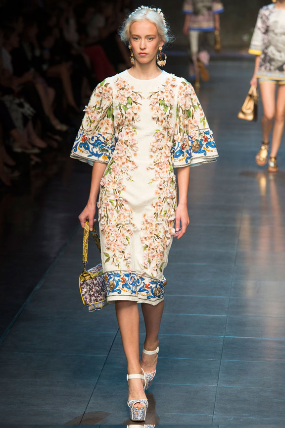 milan fashion week, catwalk, runway show, review, critic, spring summer 2014, dolce & gabbana