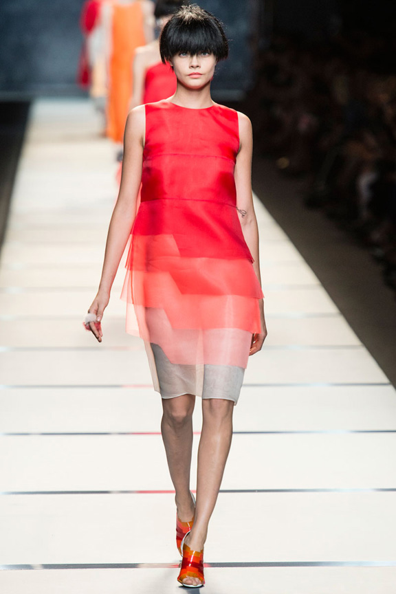 milan fashion week, catwalk, runway show, review, critic, spring summer 2014, fendi, karl lagerfeld