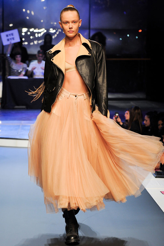 catwalk, fashion critic, runway review, paris fashion week, spring summer 2014, jean paul gaultier, amy winehouse