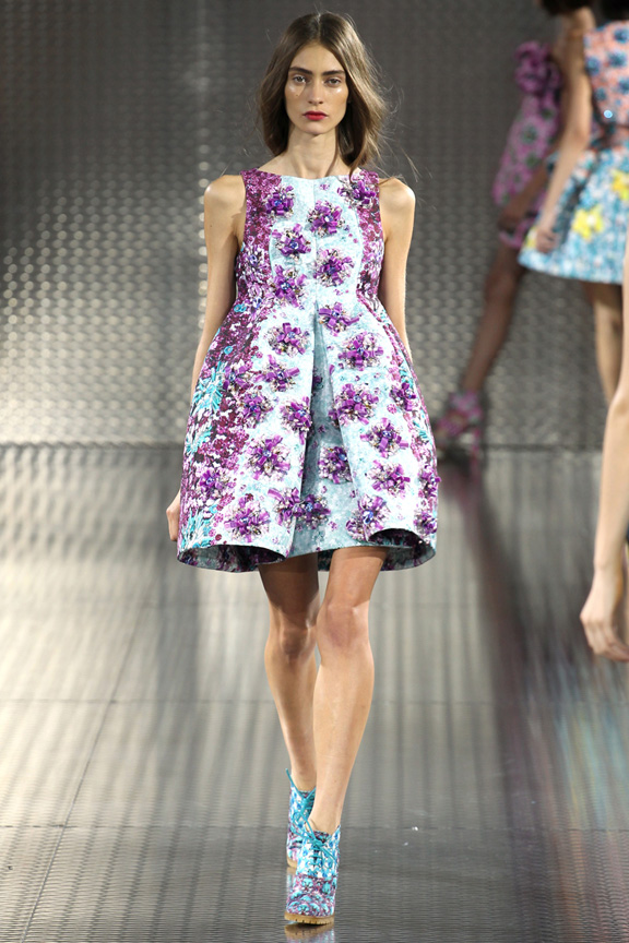 London fashion week, catwalk, runway show, review, critic, spring summer 2014, mary katrantzou