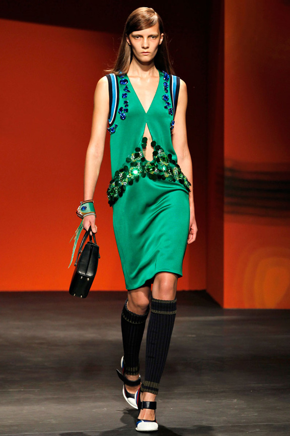milan fashion week, catwalk, runway show, review, critic, spring summer 2014, prada