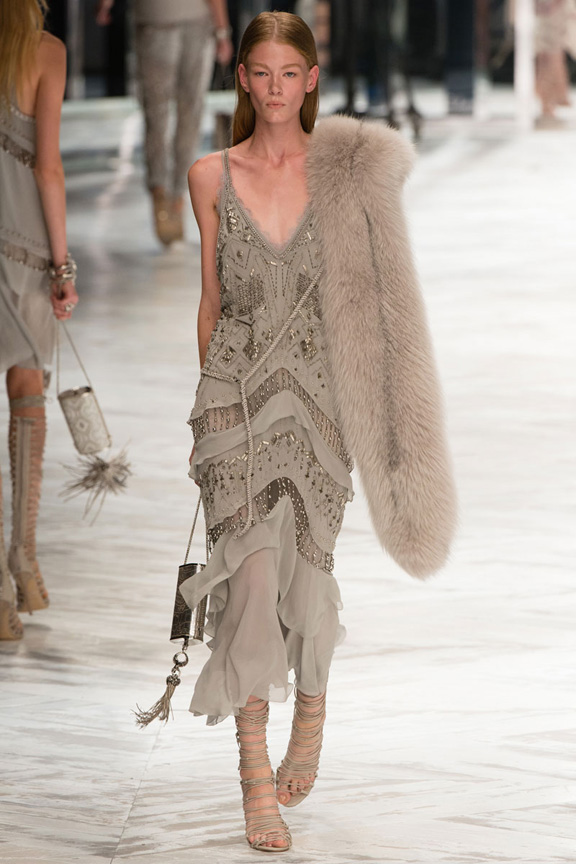 milan fashion week, catwalk, runway show, review, critic, spring summer 2014, roberto cavalli