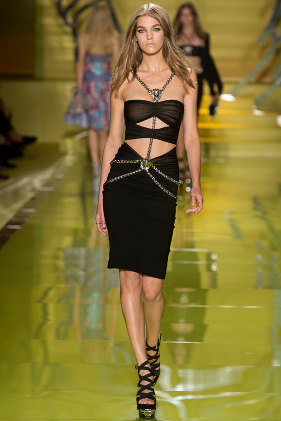 milan fashion week, catwalk, runway show, review, critic, spring summer 2014, versace, donatella versace, gianni versace