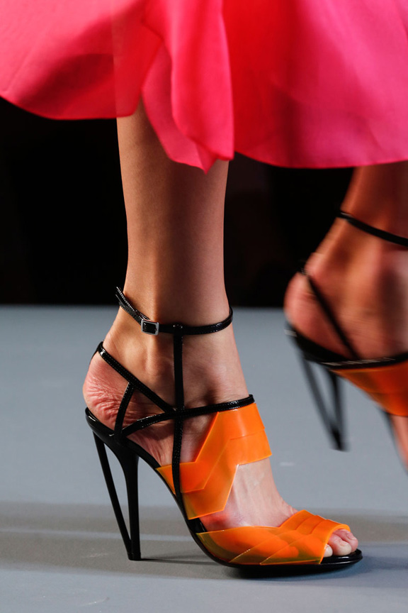 milan fashion week, catwalk, runway show, review, critic, spring summer 2014, shoes, Fendi
