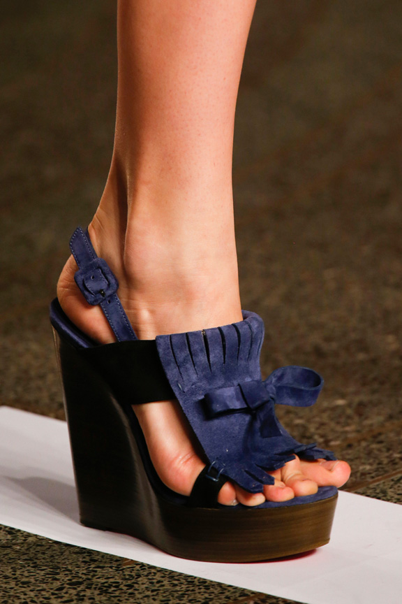 london fashion week, catwalk, runway show, review, critic, spring summer 2014, shoes, jonathan saunders