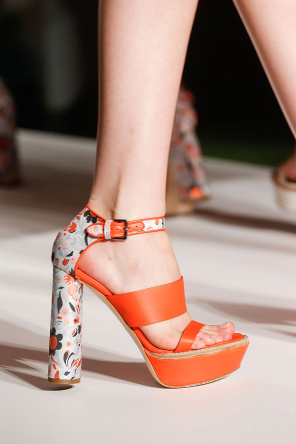 london fashion week, catwalk, runway show, review, critic, spring summer 2014, shoes, mulberry