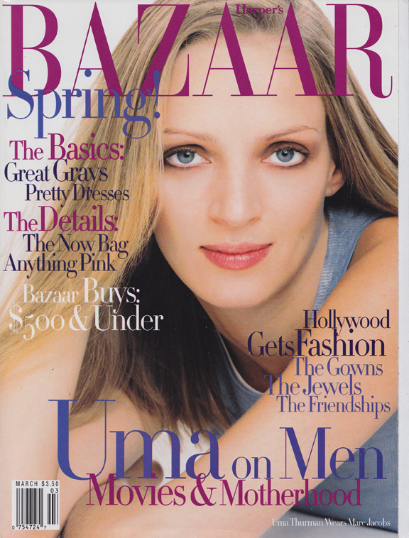 Liz Tilberis, Harper's Bazaar, magazine covers, editorial shoots, fashion photography, glossies, magazines, uma thurman