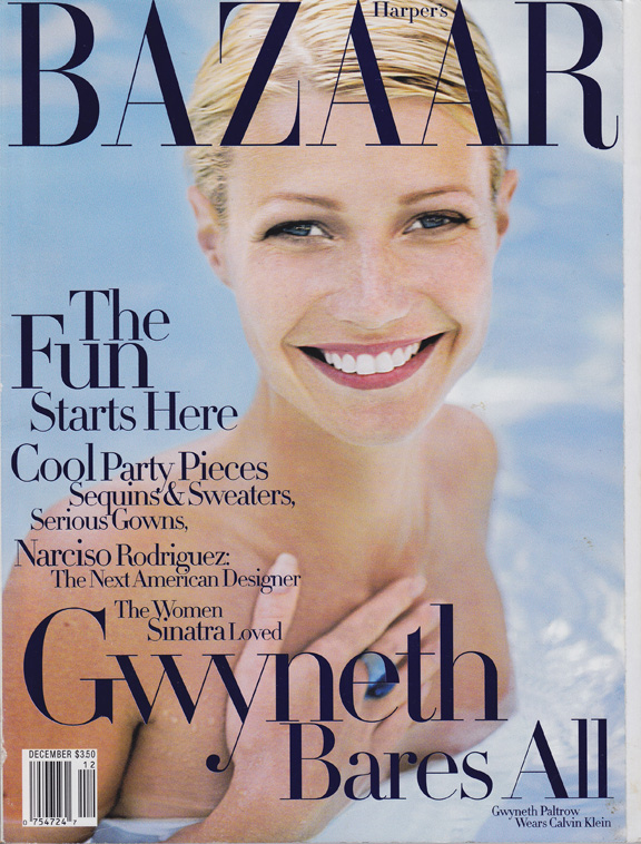 Liz Tilberis, Harper's Bazaar, magazine covers, editorial shoots, fashion photography, glossies, magazines, gwyneth paltrow