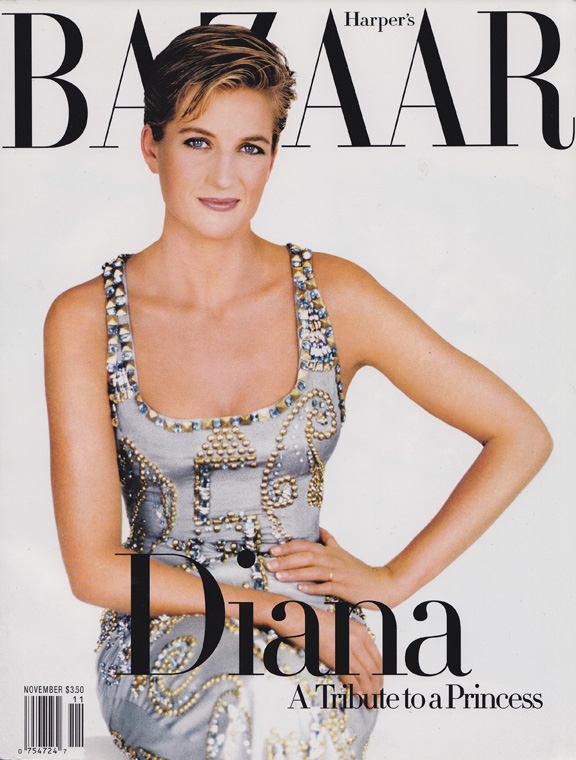 Liz Tilberis, Harper's Bazaar, magazine covers, editorial shoots, fashion photography, glossies, magazines, princess diana