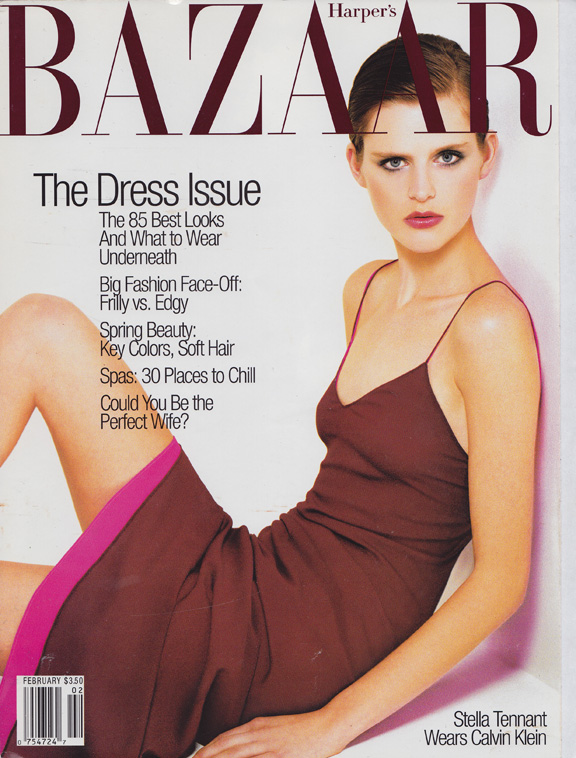 Liz Tilberis, Harper's Bazaar, magazine covers, editorial shoots, fashion photography, glossies, magazines, stella tennant