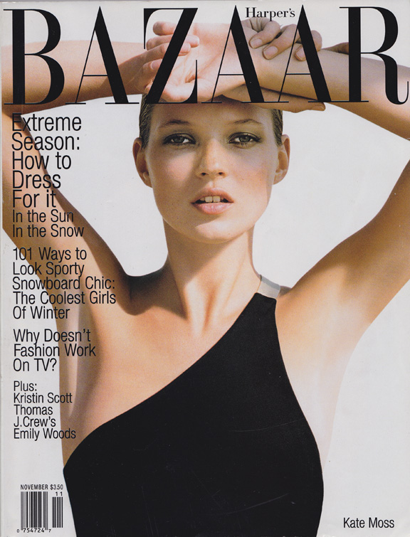 Liz Tilberis, Harper's Bazaar, magazine covers, editorial shoots, fashion photography, glossies, magazines, kate moss