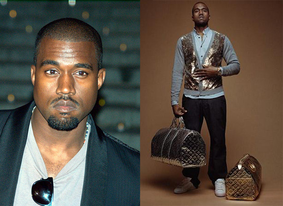 kanye west, fashion, louis vuitton, douche bag, celebrity designer, celebrity fashion