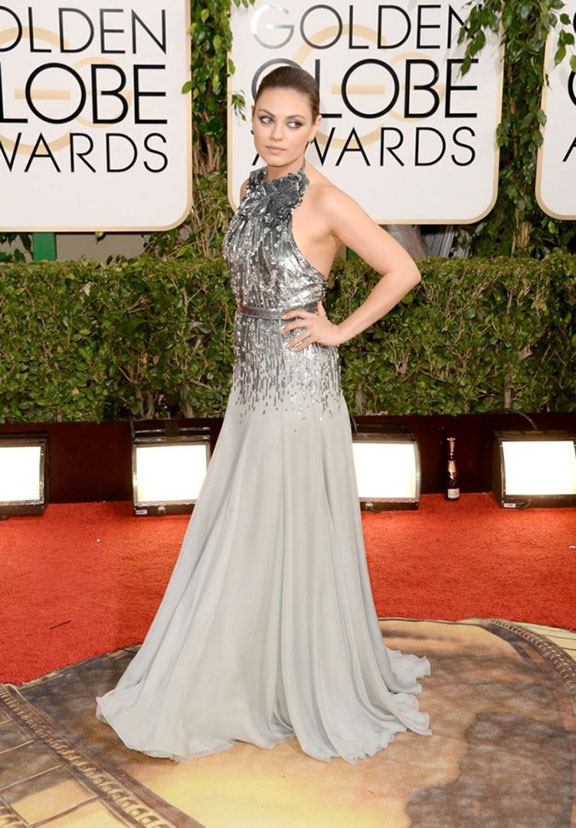 golden globes, red carpet fashion, dresses, celebrity fashion, mila kunis, gucci