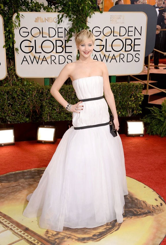 golden globes, red carpet fashion, dresses, celebrity fashion, jennifer lawrence