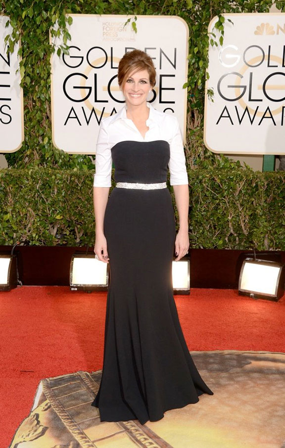 golden globes, red carpet fashion, dresses, celebrity fashion, julia roberts