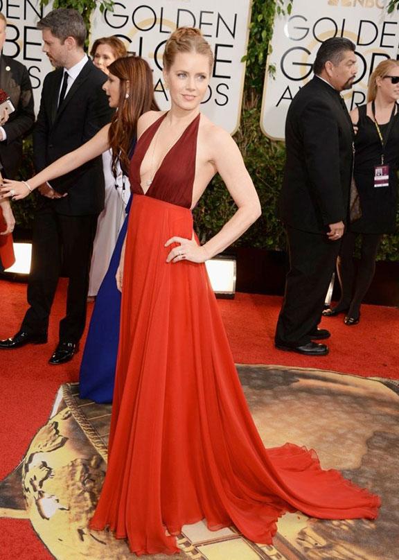 golden globes, red carpet fashion, dresses, celebrity fashion, amy adams, valentino