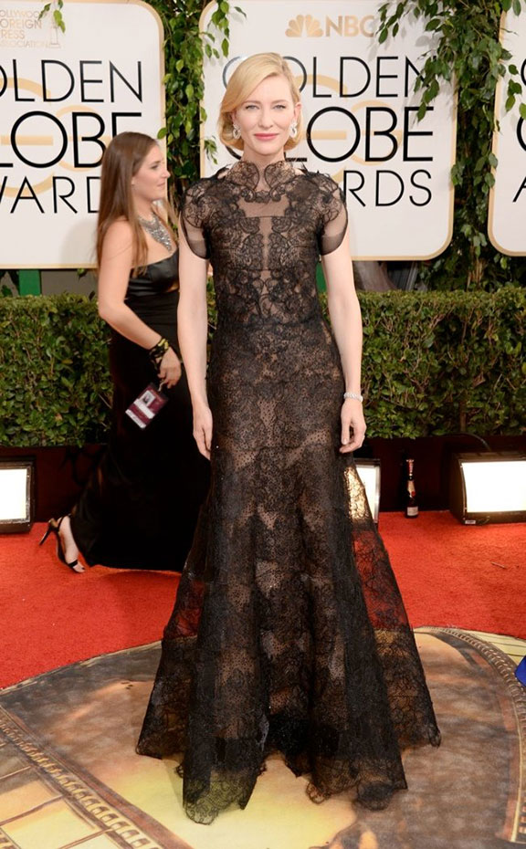 golden globes, red carpet fashion, dresses, celebrity fashion, cate blanchett, armani prive