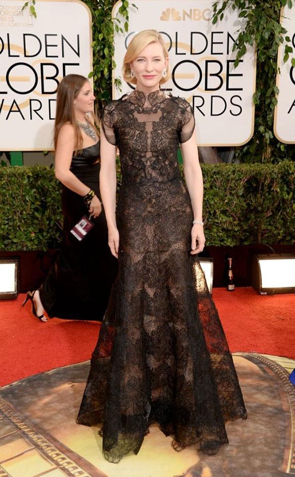 golden globes, red carpet fashion, dresses, celebrity fashion, cate blanchett, armani prive
