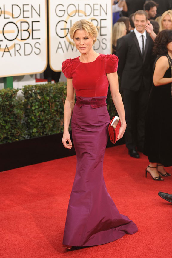 golden globes, red carpet fashion, dresses, celebrity fashion, julie bowen