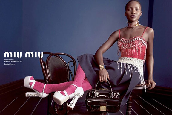 fashion photography, advertising campaigns, fashion magazines, styling, fashion shoots,  magazine ads, miu miu, lupita nyongo