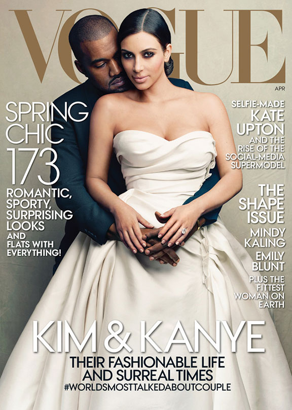 kim kardashian, kimye, kanye west, vogue, fashion magazines, magazine covers, anna wintour
