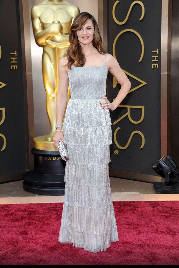oscars, red carpet, 2014, academy awards, evening wear, celebrities, jennifer garner, oscar de la renta