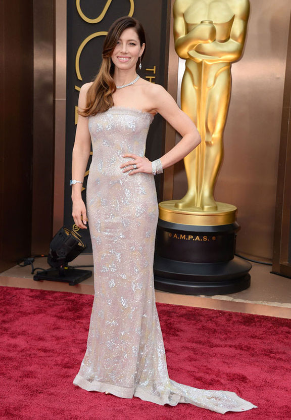 oscars, red carpet, 2014, academy awards, evening wear, celebrities,  jessica biel, chanel
