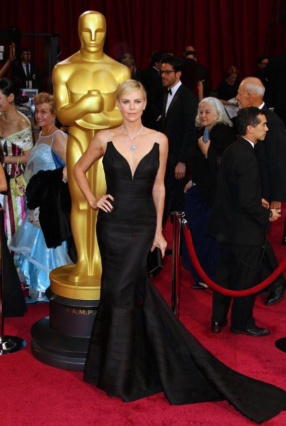 oscars, red carpet, 2014, academy awards, evening wear, celebrities, charlize theron, dior