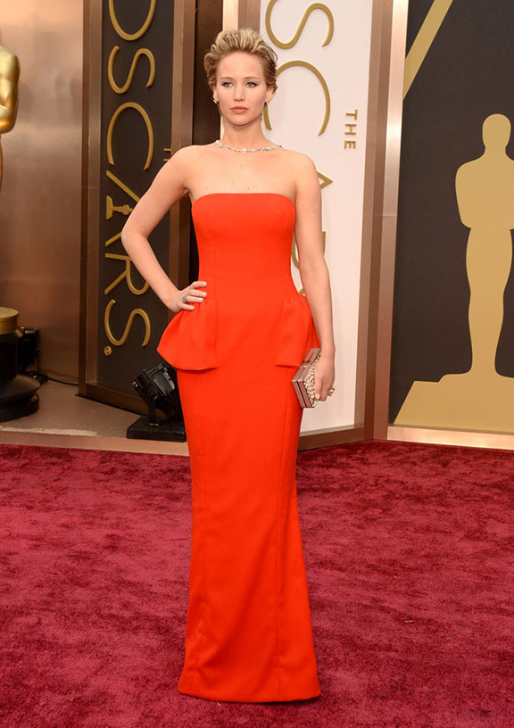 oscars, red carpet, 2014, academy awards, evening wear, celebrities, jennifer lawrence, dior