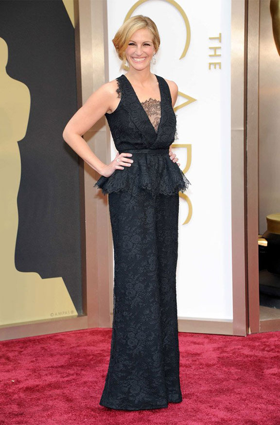 oscars, red carpet, 2014, academy awards, evening wear, celebrities, julia roberts, givenchy
