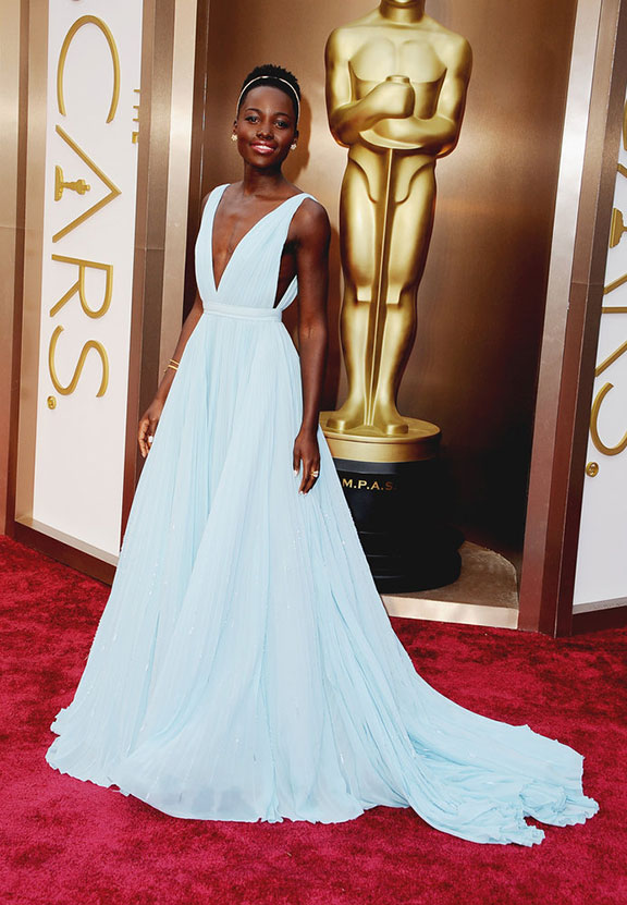 oscars, red carpet, 2014, academy awards, evening wear, celebrities, lupita nyong'o, prada