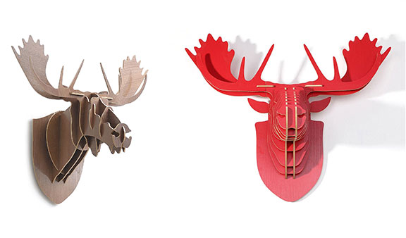 animal trophy heads, home decor, love, wall, design, interiors
