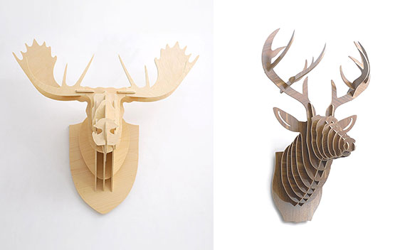 animal trophy heads, home decor, love, wall, design, interiors