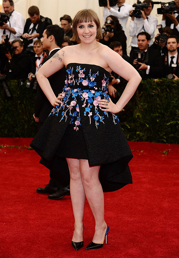 met costume gala, red carpet, vogue, celebrities, evening wear, lena dunham