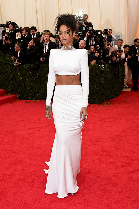 met costume gala, red carpet, vogue, celebrities, evening wear, rihanna, stella mccartney