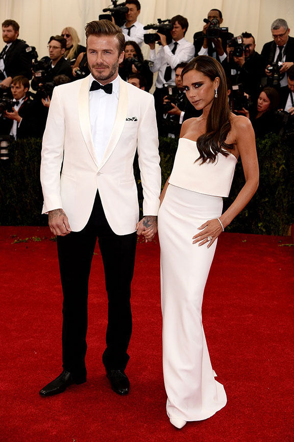 met costume gala, red carpet, vogue, celebrities, evening wear, victoria beckham