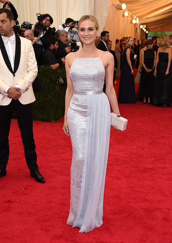 met costume gala, red carpet, vogue, celebrities, evening wear, diane kruger