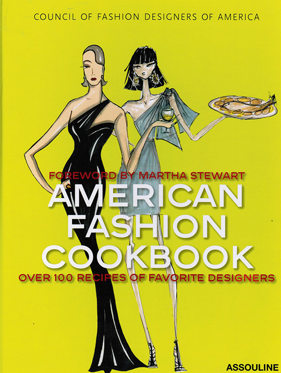 american fashion cookbook, books, cooking, fashion designers, loathe