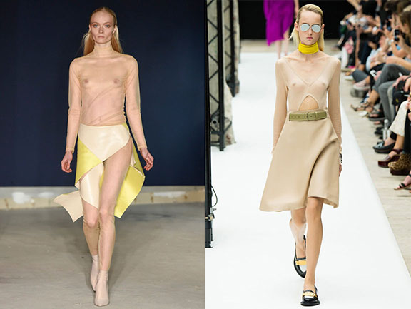 fashion week, spring 2015, nipples, sheer