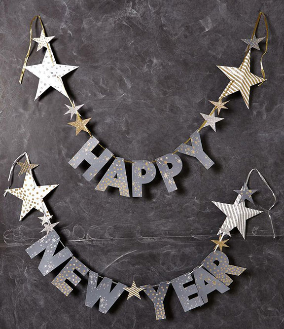 Happy New Year, garland