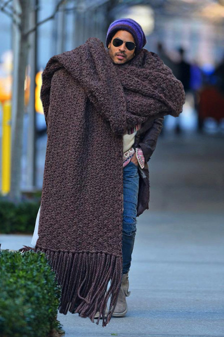 lenny kravitz, giant scarf, bad fashion, loathe