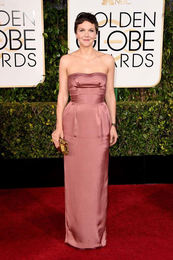 red carpet, golden globes, celebrity fashion, evening wear, maggie gyllenhaal, miu miu