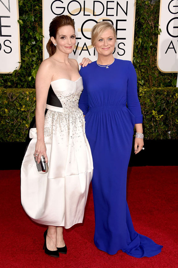 red carpet, golden globes, celebrity fashion, evening wear, tinay fey, amy poehler