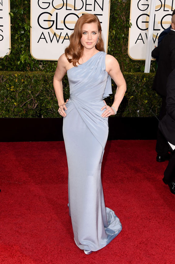 red carpet, golden globes, celebrity fashion, evening wear, amy adams, versace