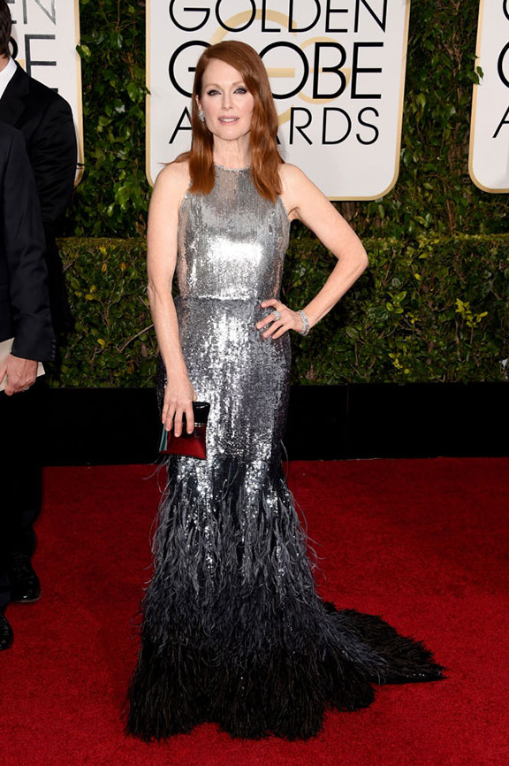 red carpet, golden globes, celebrity fashion, evening wear, julianne moore, givenchy