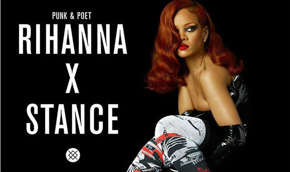 rihanna, socks, stance, celebrity fashion, celebrity designer